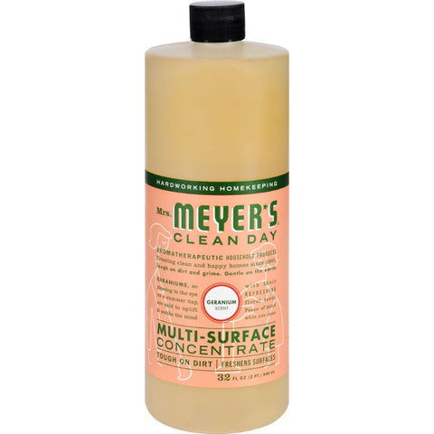 Mrs. Meyer's Multi Surface Concentrate - Geranium - 32 Fl Oz - Case Of 6