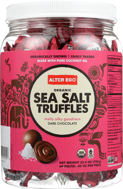 Alter Eco Americas Organic Truffles - Sea Salt - .42 Oz - Case Of 60