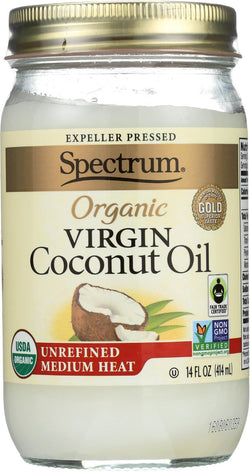 Spectrum Naturals Unrefined Organic Virgin Coconut Oil - Case Of 12 - 14 Fl Oz.