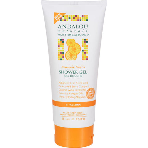 Andalou Naturals Shower Gel - Mandarin Vanilla Vitalizing - 8.5 Fl Oz