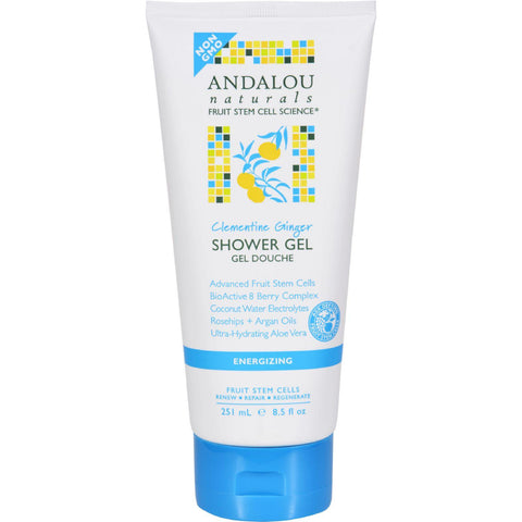 Andalou Naturals Shower Gel - Clementine Ginger Energizing - 8.5 Fl Oz