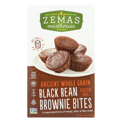 Zemas Madhouse Food Brownie Bites - Black Bean - Case Of 6 - 11.9 Oz.