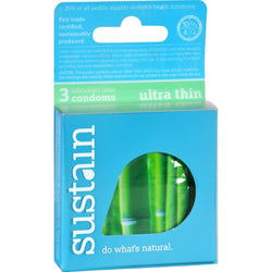 Sustain Condoms Ultra Thin - 3 Pack
