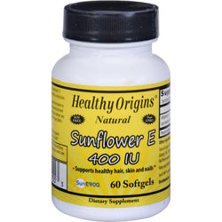 Healthy Origins Sunflower Vitamin E - 400 Iu - 60 Softgels