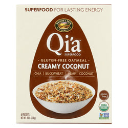Nature's Path Organic Qi'a Superfood Hot Oatmeal - Creamy Coconut - Case Of 6 - 8 Oz.