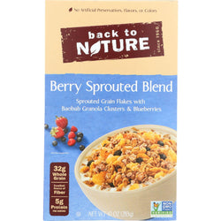 Back To Nature Cereal - Berry Sprouted Blend - 10 Oz - Case Of 6