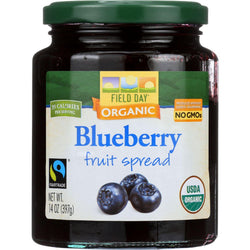 Field Day Fruit Spread - Organic - Blueberry - 14 Oz - Case Of 12