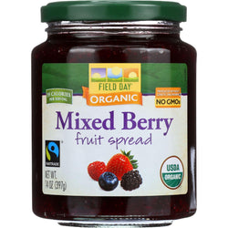 Field Day Fruit Spread - Organic - Mixed Berry - 14 Oz - Case Of 12