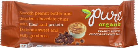 Pure Organic Pure Fruit And Nut Bar - Organic - Peanut Butter Chocolate Chip - 1.5 Oz Bars - Case Of 12