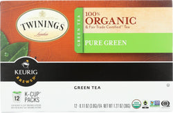 Twinings Tea K-cup Pods - Organic - Tea - Pure Green - 12 Count - Case Of 6