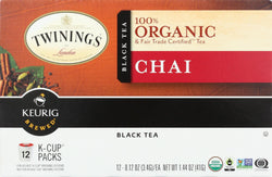 Twinings Tea K-cup Pods - Organic - Tea - Chai - 12 Count - Case Of 6