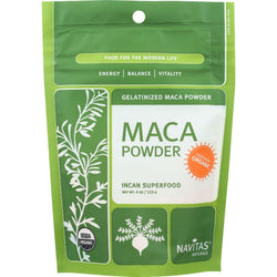 Navitas Naturals Maca Powder - Organic - Gelatinized - 4 Oz - Case Of 12