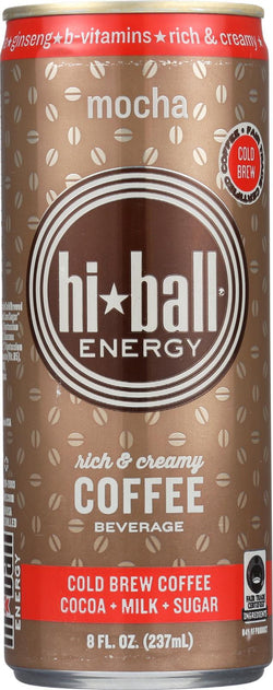 Hi Ball Cold Brew Coffee Beverage - Mocha - Case Of 12 - 8 Fl Oz.