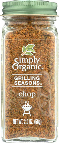 Simply Organic Chop Grilling Seasons - Case Of 6 - 2 Oz.