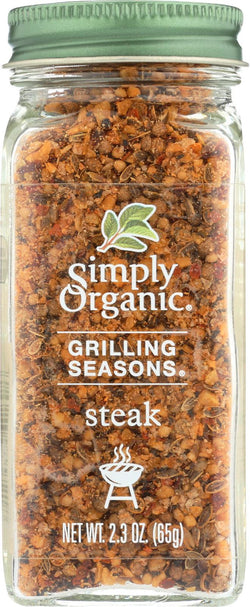 Simply Organic Steak Grilling Seasons - Case Of 6 - 2.3 Oz.
