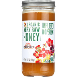 Madhava Honey Honey - Organic - Very Raw - 100 Percent Unfiltered - 10.5 Oz - Case Of 12