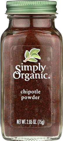 Simply Organic Chipotle Pepper Powder - Case Of 6 - 2.65 Oz.