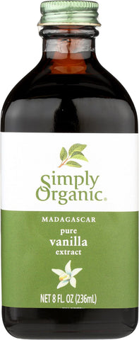 Simply Organic Pure Vanilla Extract - Case Of 6 - 8 Fl Oz.