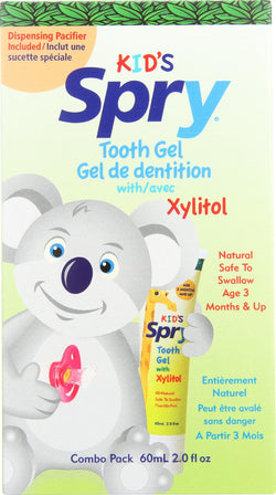 Spry Dispensing Pacifier And Xylitol Tooth Gel Kit - Case Of 1