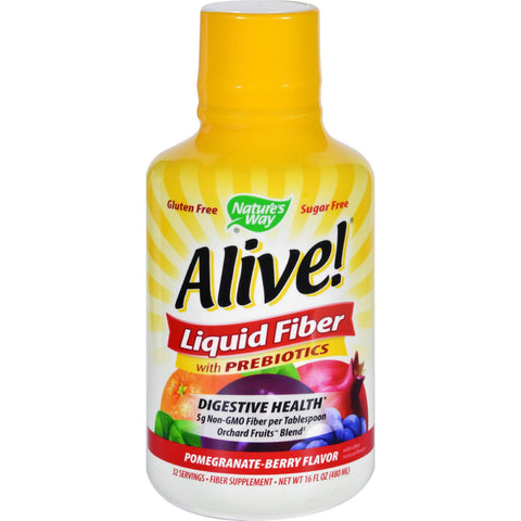 Natures Way Fiber - Alive - Liquid - Pomegranate-berry Flavor - 16 Oz