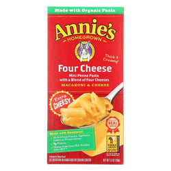 Annie's Homegrown Four Cheese Macaroni And Cheese - Case Of 12 - 5.5 Oz.