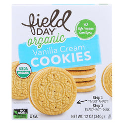 Field Day Organic Vanilla Cream Cookies - Cream Cookies - Case Of 6 - 12 Oz.