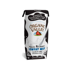 Organic Valley Single Serve Aseptic Milk - White 1% - Case Of 12 - 6.75oz Cartons