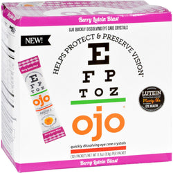 Ojo Eye Care Crystals - Berry Lutein Blast - 30 Packets