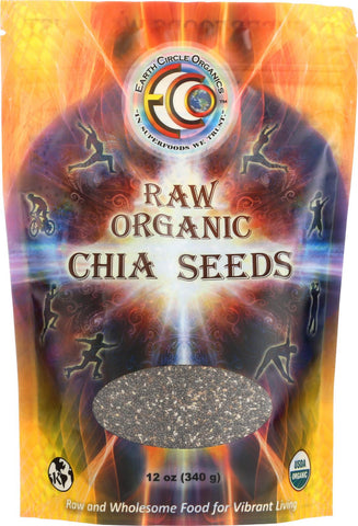 Earth Circle Organics Chia Seeds - Organic - 12 Oz