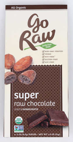 Go Raw Chocolate - Super - Case Of 12 - 1.8 Oz.