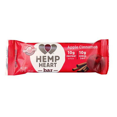 Manitoba Harvest Hemp Harvest Bar - Apple Cinnamon - 1.6 Oz - Case Of 12