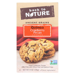 Back To Nature Quinoa Cranberry Pecan Cookies - Case Of 6 - 8 Oz.