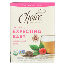 Choice Organic Wellness Tea - Expecting Baby - Case Of 6 - 16 Bags