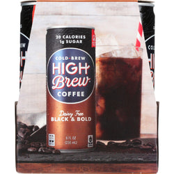 High Brew Coffee Coffee - Ready To Drink - Black And Bold - Dairy Free - 4-8 Oz - Case Of 6