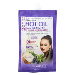 Giovanni 2chic Hot Oil Hair Treatment - Blackberry And Coconut Giovanni - Case Of 12 - 1.75 Fl Oz.