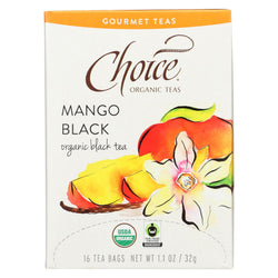 Choice Organic Gourmet Black Tea - Mango Black - Case Of 6 - 16 Count