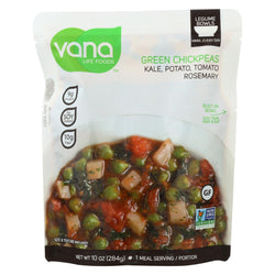 Vana Life Foods Green Chickpeas - Kale - Case Of 6 - 10 Oz.