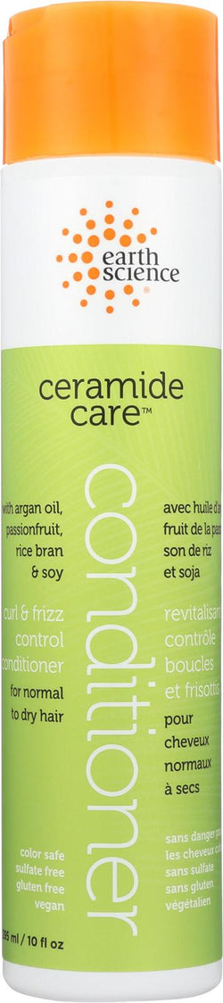 Earth Science Ceramide Care Curl And Frizz Control Conditioner - Case Of 1 - 10 Fl Oz.