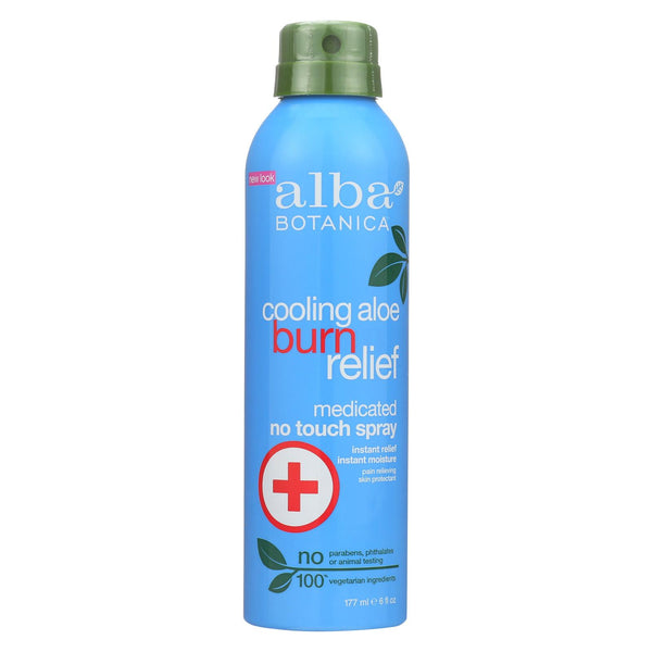 Alba Botanica Cooling Aloe Burn Relief - No Touch Spray - Case Of 1 - 6 Oz.