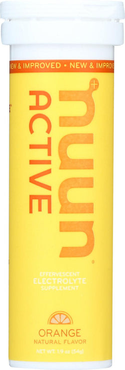 Nuun Hydration Drink Tab - Active - Orange - 10 Tablets - Case Of 8