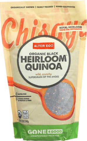 Alter Eco Americas Quinoa - Organic Black Heirloom - Case Of 6 - 12 Oz.