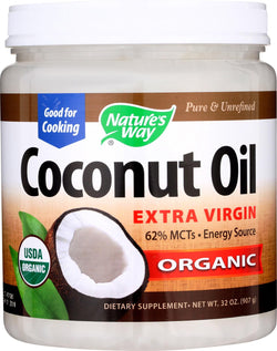 Nature's Way Coconut Oil - Extra Virgin - Case Of 1 - 32 Oz.