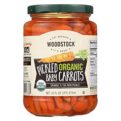 Woodstock Organic Pickled Baby Carrots - Case Of 6 - 16 Oz.