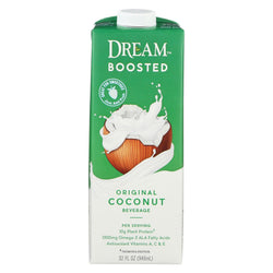 Dream Boosted Original Coconut Beverage - Case Of 6 - 32 Fl Oz.