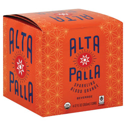 Alta Palla Organic Sparking Fruit Juice - Blood Orange - Case Of 6 - 12 Fl Oz.