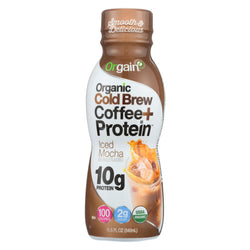 Orgain Organic Cold Brew Coffee Protein - Iced Mocha - Case Of 12 - 11.5 Fl Oz.