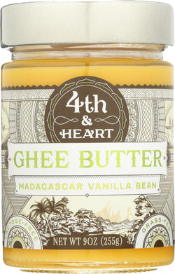 4th And Heart Ghee Butter - Madagascar Vanilla Bean - Case Of 6 - 9 Oz.