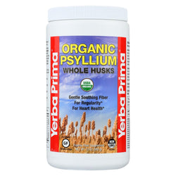 Yerba Prima Organic Psyllium - Whole Husks Supplement - Case Of 1 - 12 Oz.