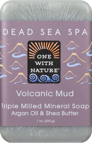 One With Nature Mud Soap - Volcanic - Case Of 6 - 7 Oz.