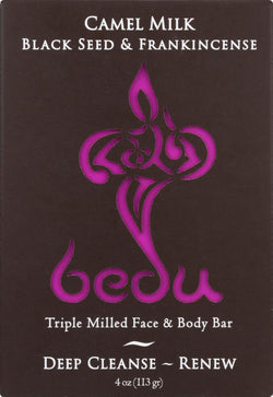 Bedu Face And Body Bar - Black Seed And Frankincense - Case Of 6 - 4 Oz.